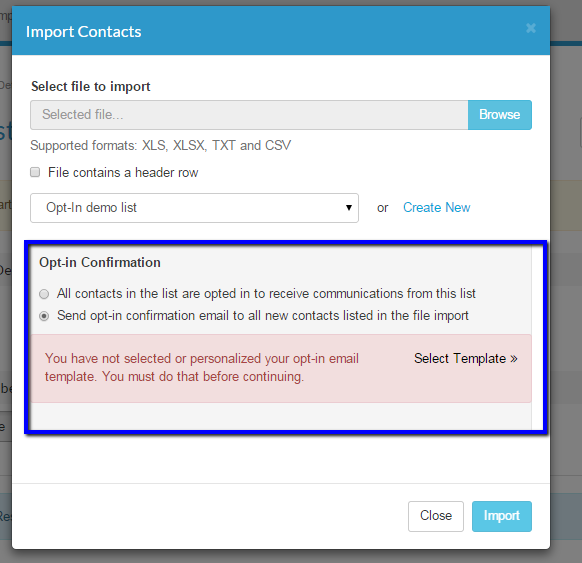 How to Set Up Global Opt-In Emails for a Contact List
